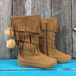 Other - Little girls fringe moccasin boots